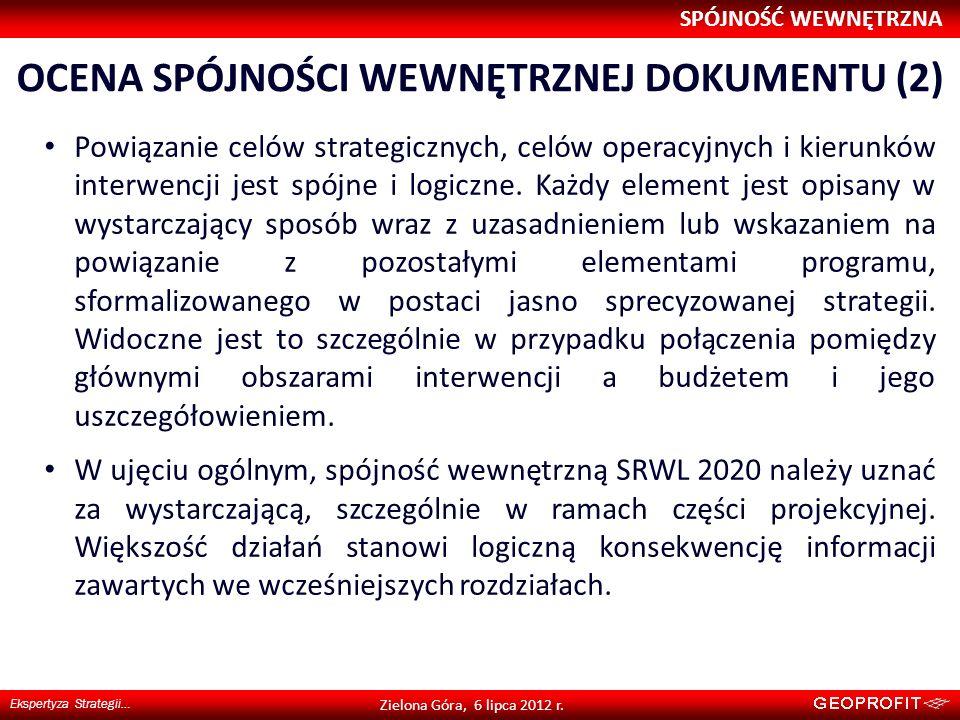 Ocena spójności wewnętrznej dokumentu (2)