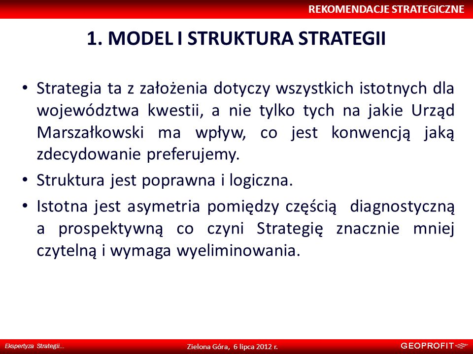 1. MODEL I STRUKTURA STRATEGII