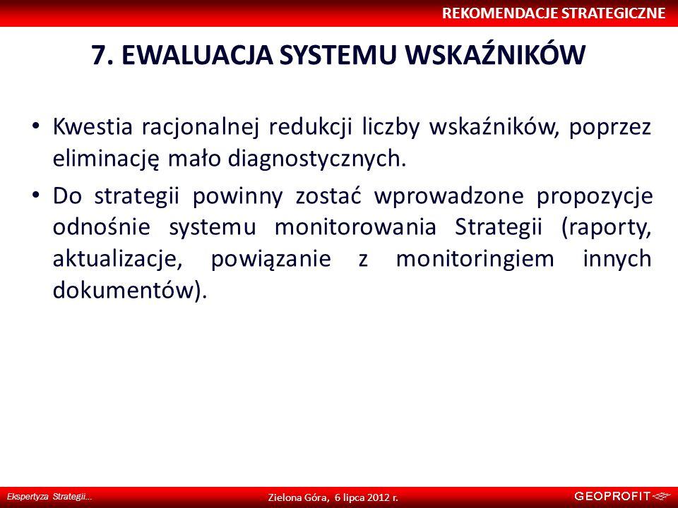 7. EWALUACJA SYSTEMU WSKAŹNIKÓW