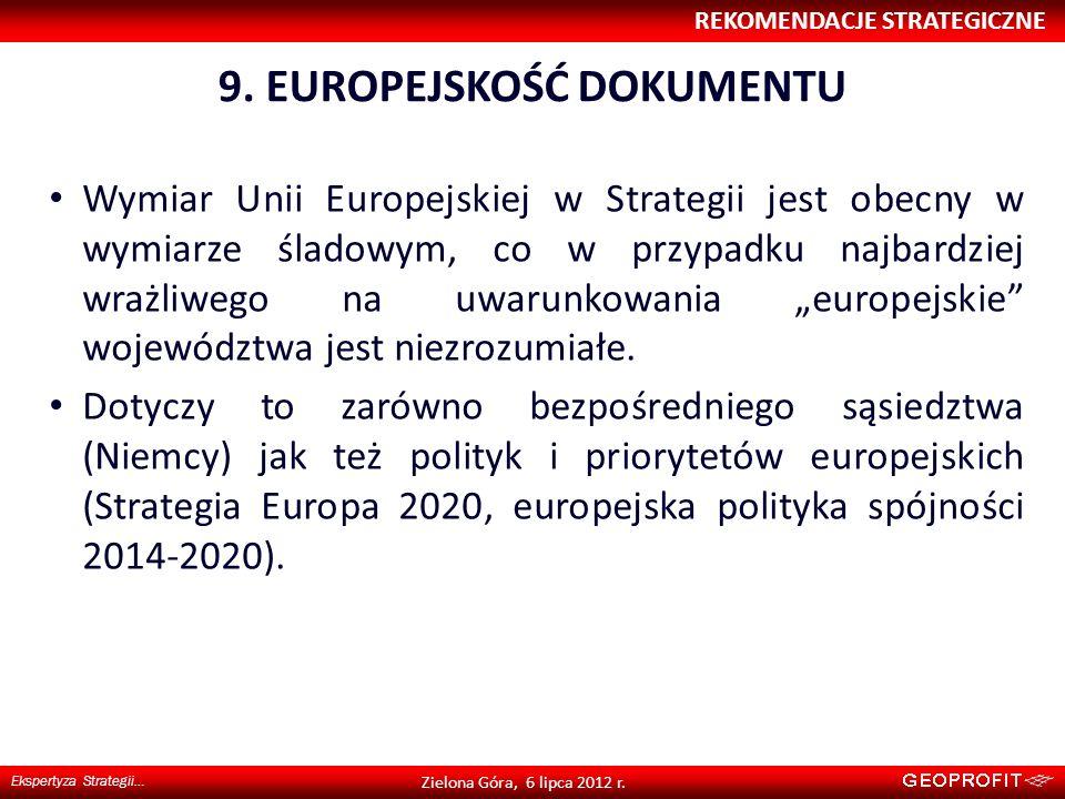 9. EUROPEJSKOŚĆ DOKUMENTU