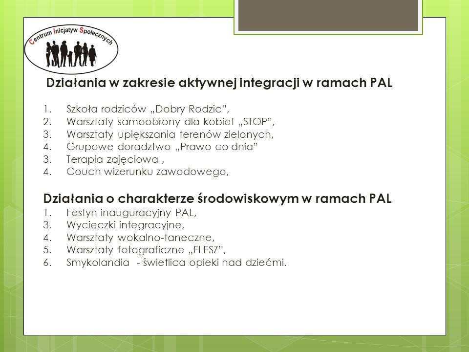 Działania w zakresie aktywnej integracji w ramach PAL