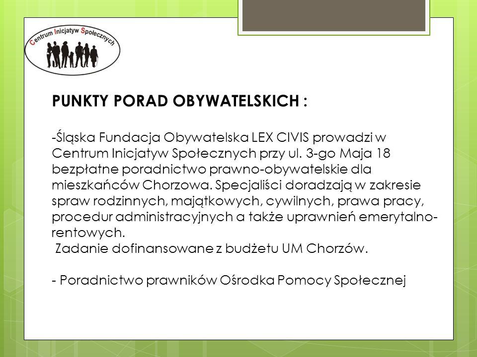 PUNKTY PORAD OBYWATELSKICH :