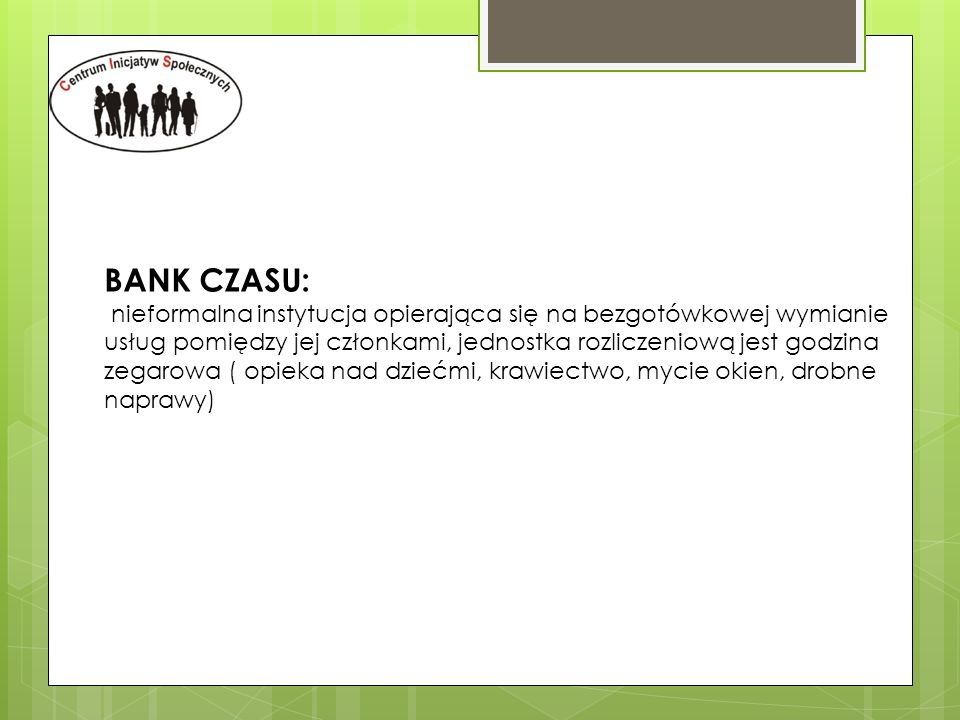 BANK CZASU: