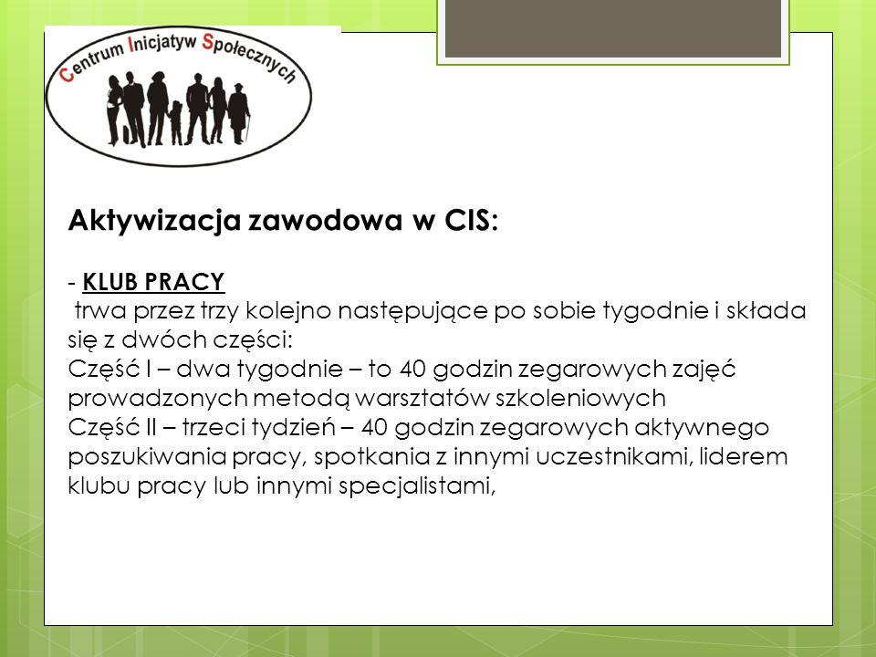Aktywizacja zawodowa w CIS:
