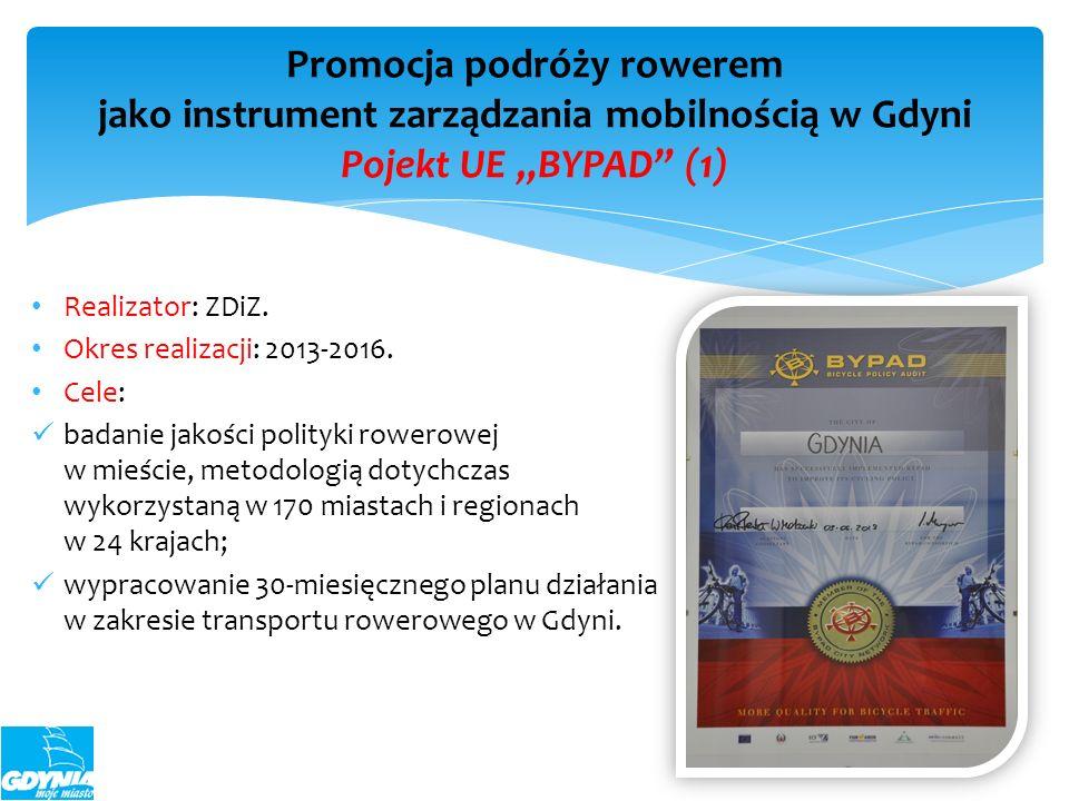 """Promocja podróży rowerem jako instrument zarządzania mobilnością w Gdyni Pojekt UE """"BYPAD (1)"""