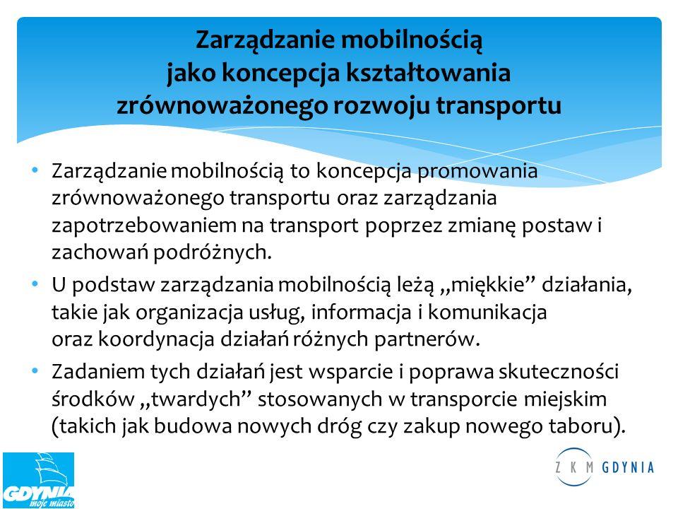 Zarządzanie mobilnością jako koncepcja kształtowania zrównoważonego rozwoju transportu