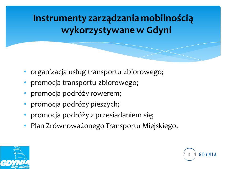 Instrumenty zarządzania mobilnością wykorzystywane w Gdyni