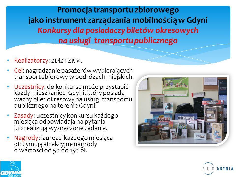 Promocja transportu zbiorowego jako instrument zarządzania mobilnością w Gdyni Konkursy dla posiadaczy biletów okresowych na usługi transportu publicznego