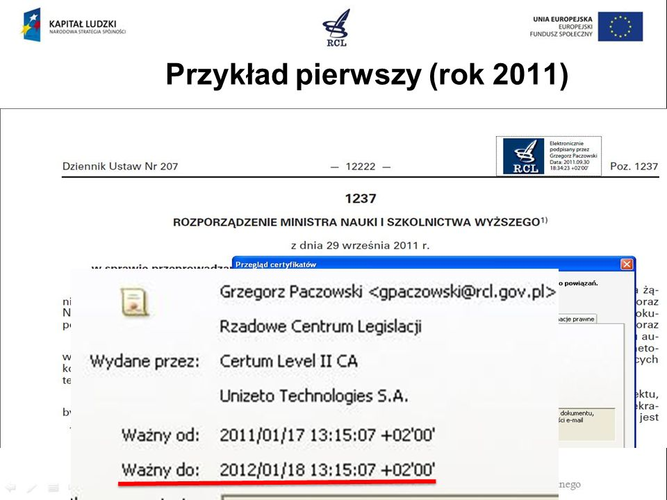 Przykład pierwszy (rok 2011)