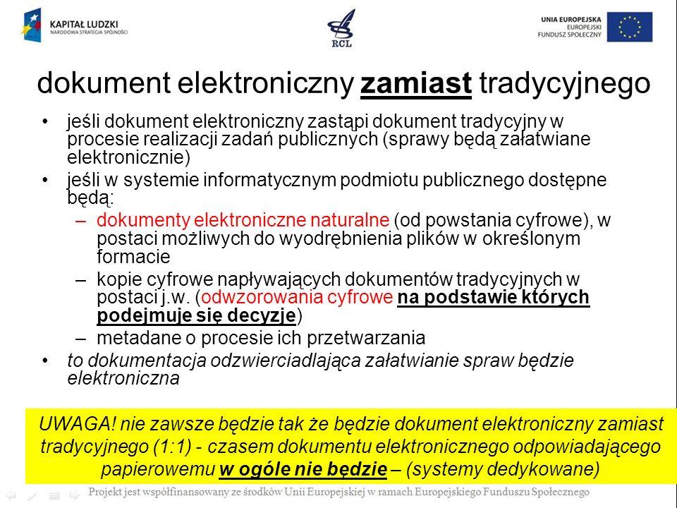 dokument elektroniczny zamiast tradycyjnego