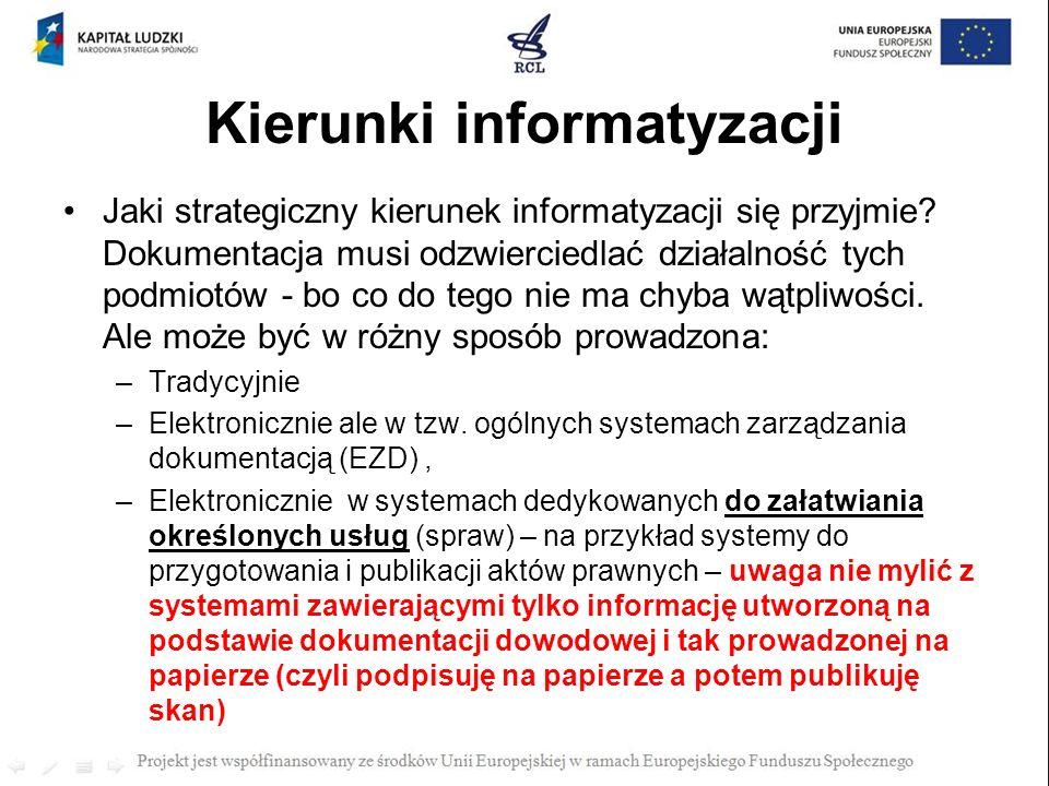 Kierunki informatyzacji