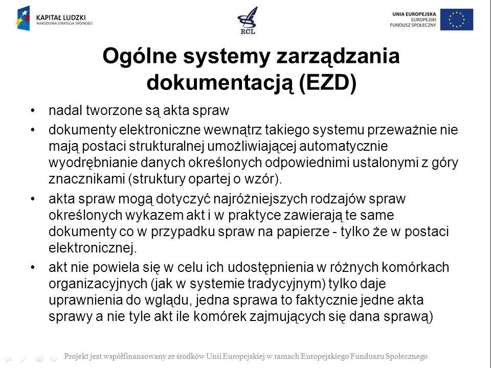 Ogólne systemy zarządzania dokumentacją (EZD)