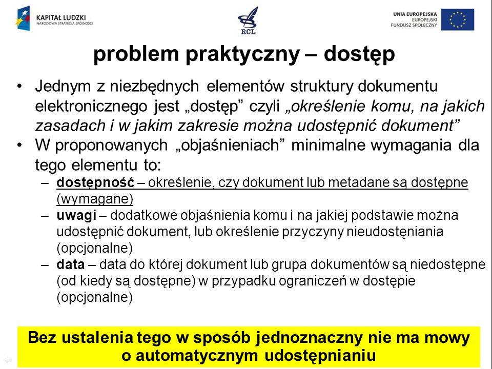 problem praktyczny – dostęp