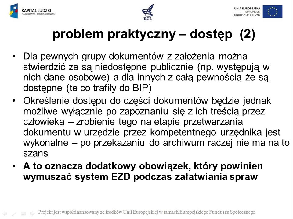 problem praktyczny – dostęp (2)