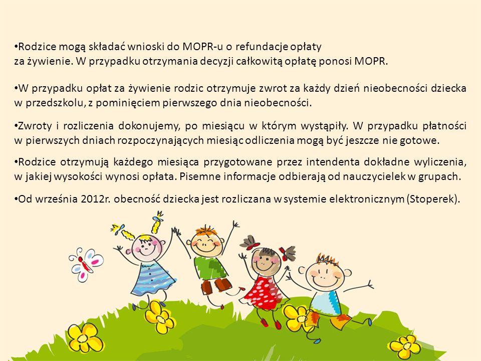 Rodzice mogą składać wnioski do MOPR-u o refundacje opłaty