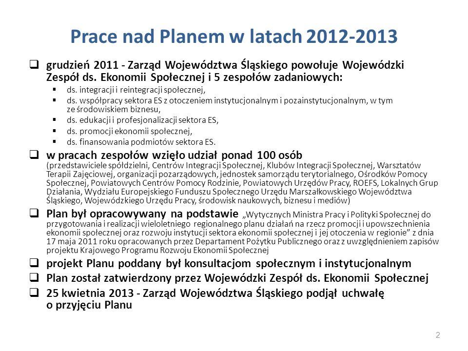 Prace nad Planem w latach 2012-2013