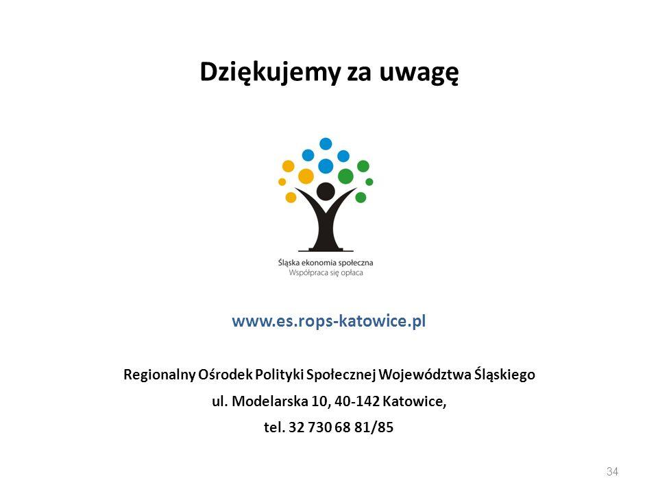 Dziękujemy za uwagę www.es.rops-katowice.pl