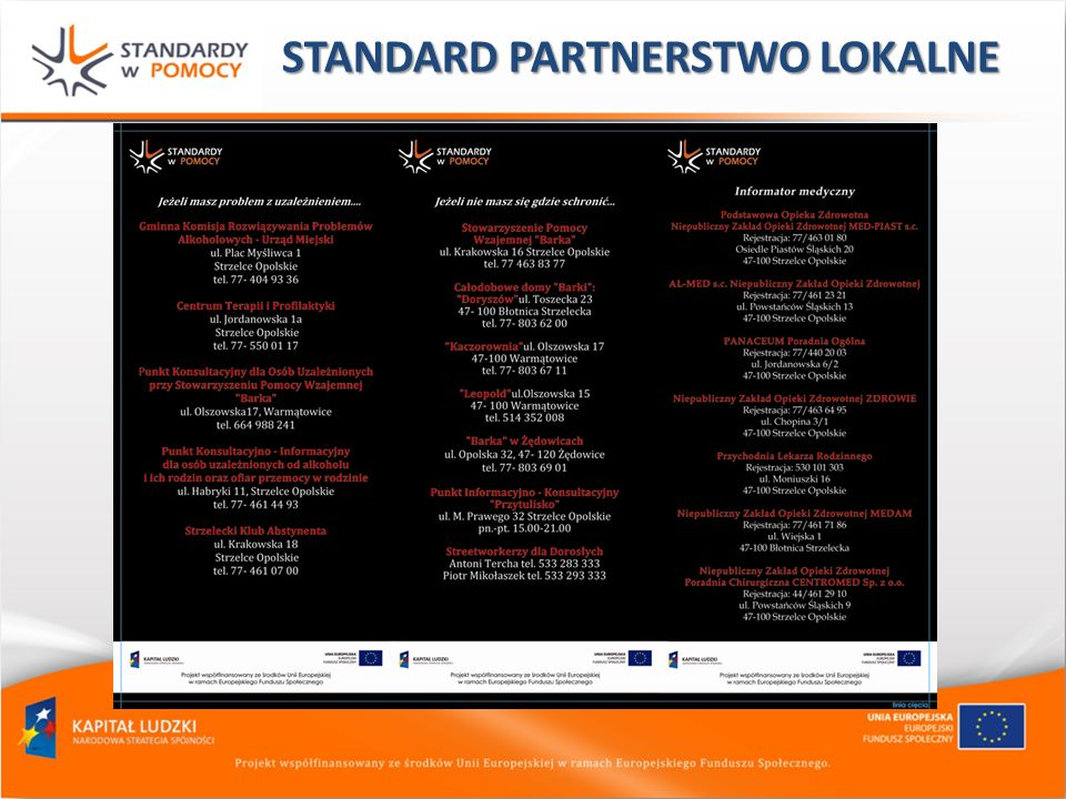 STANDARD PARTNERSTWO LOKALNE