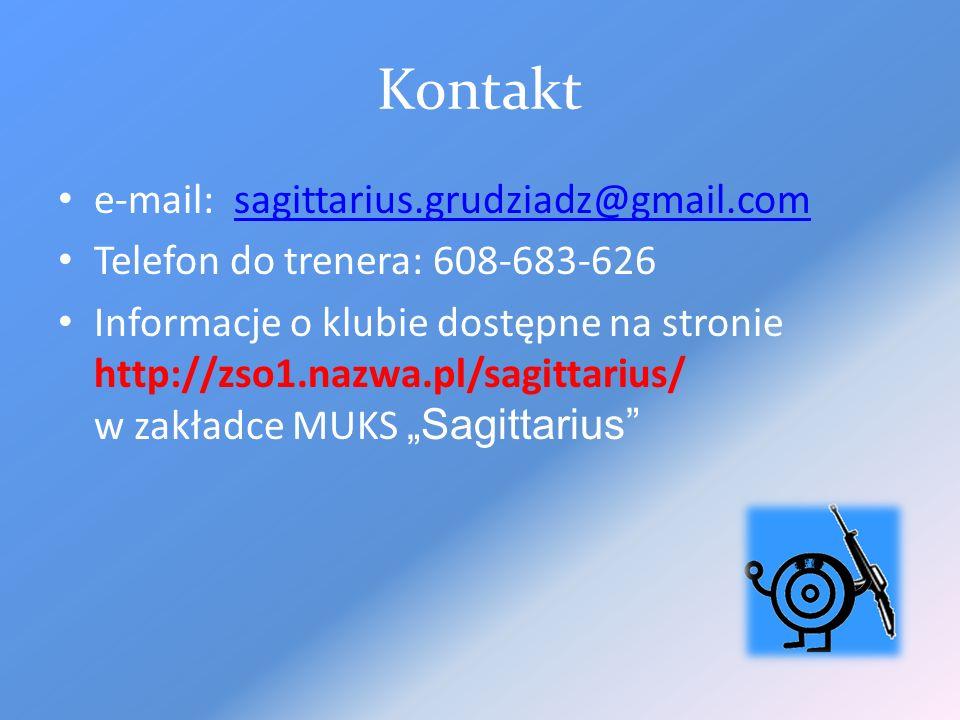 Kontakt e-mail: sagittarius.grudziadz@gmail.com