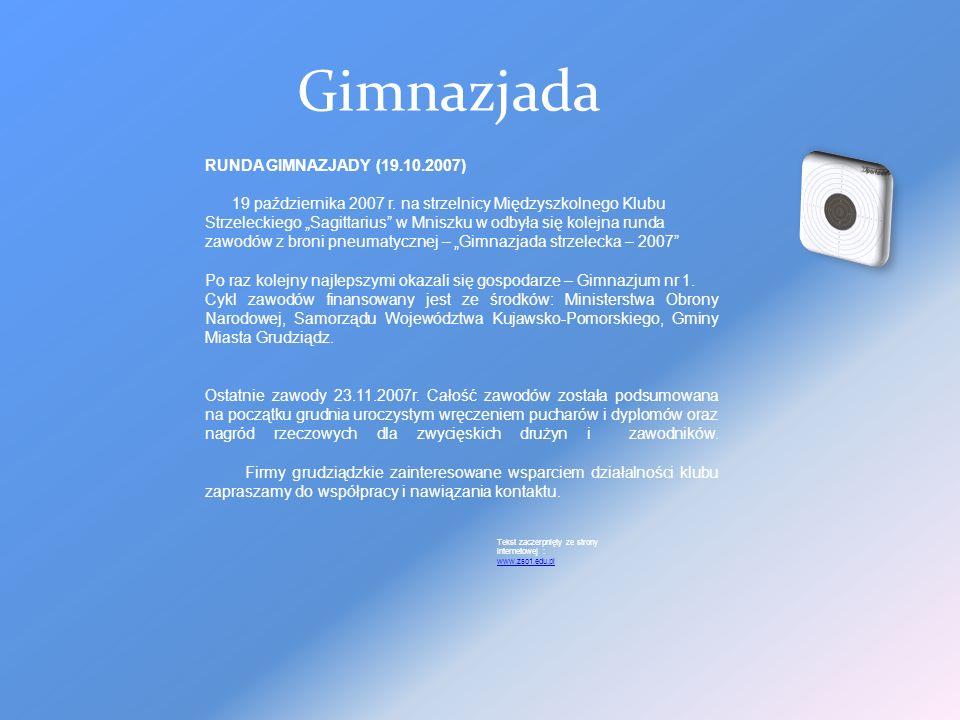 Gimnazjada RUNDA GIMNAZJADY (19.10.2007)