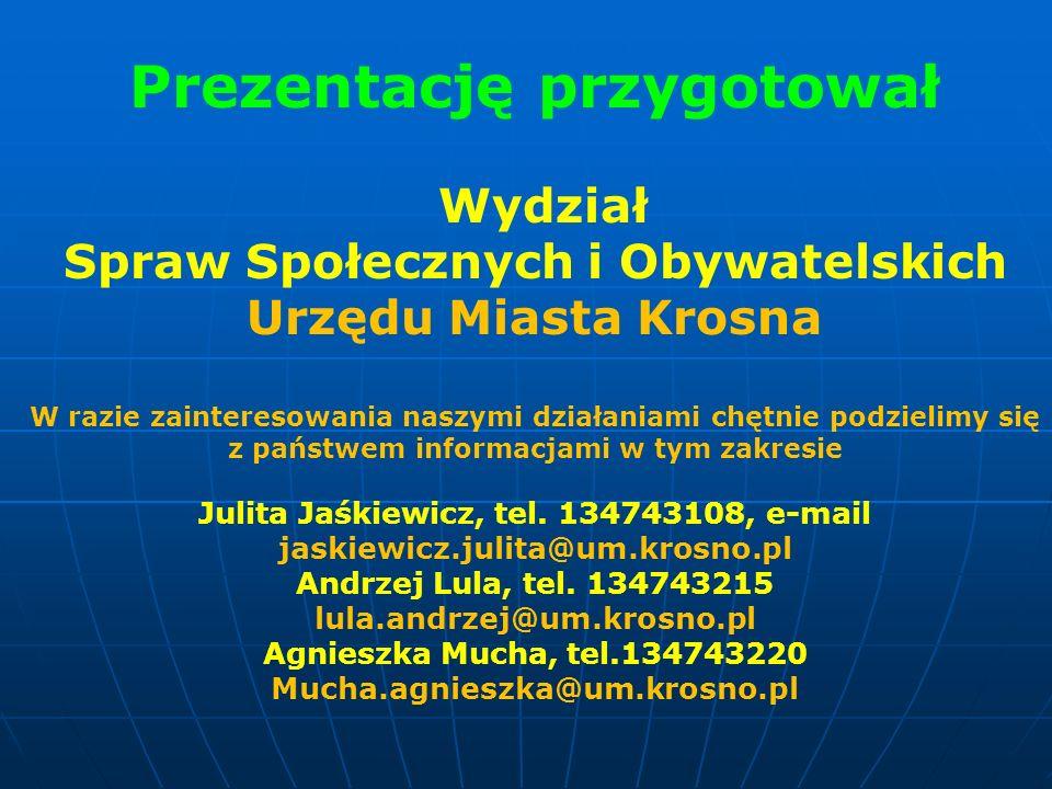 Prezentację przygotował Spraw Społecznych i Obywatelskich