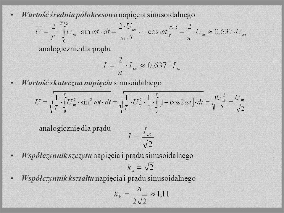 Wartość średnia półokresowa napięcia sinusoidalnego