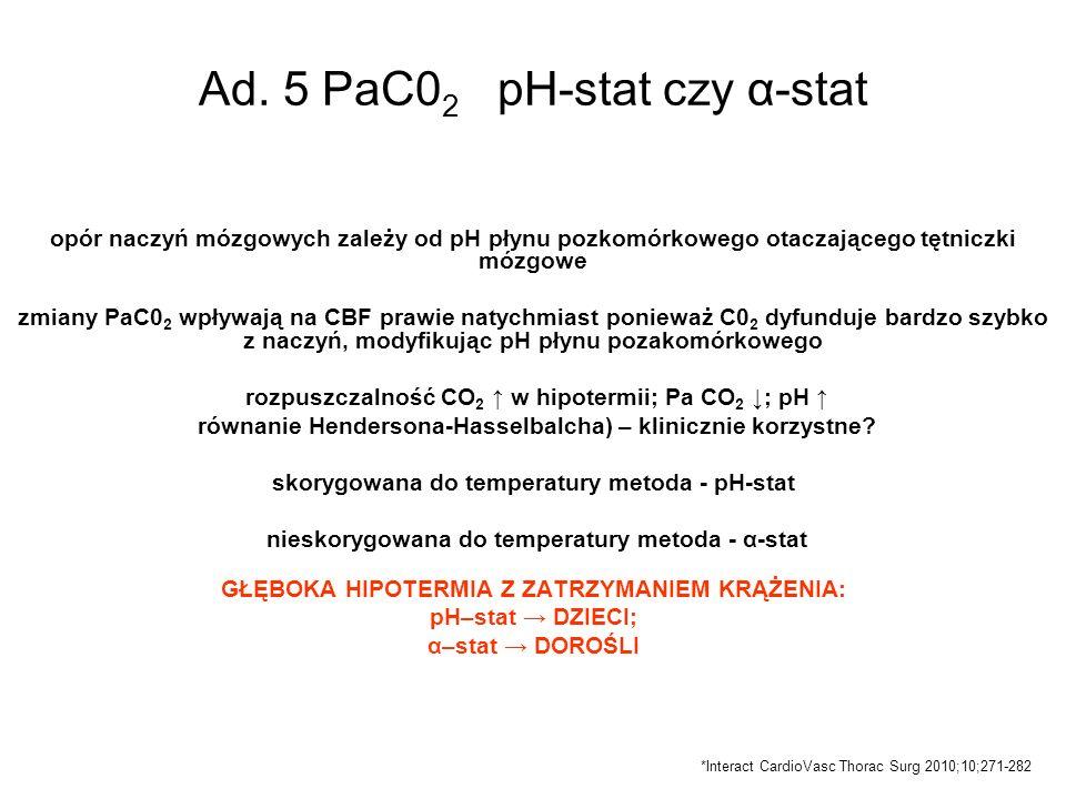 Ad. 5 PaC02 pH-stat czy α-stat
