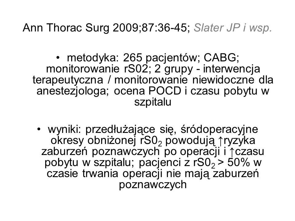 Ann Thorac Surg 2009;87:36-45; Slater JP i wsp.