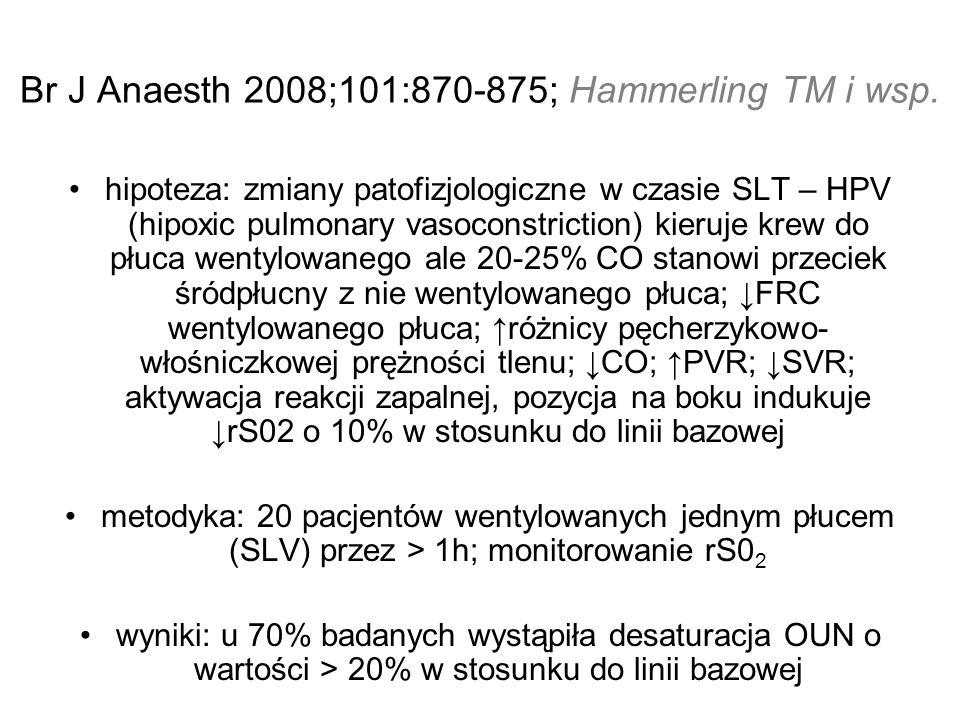 Br J Anaesth 2008;101:870-875; Hammerling TM i wsp.