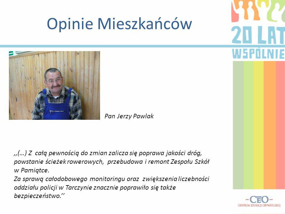 Opinie Mieszkańców Pan Jerzy Pawlak