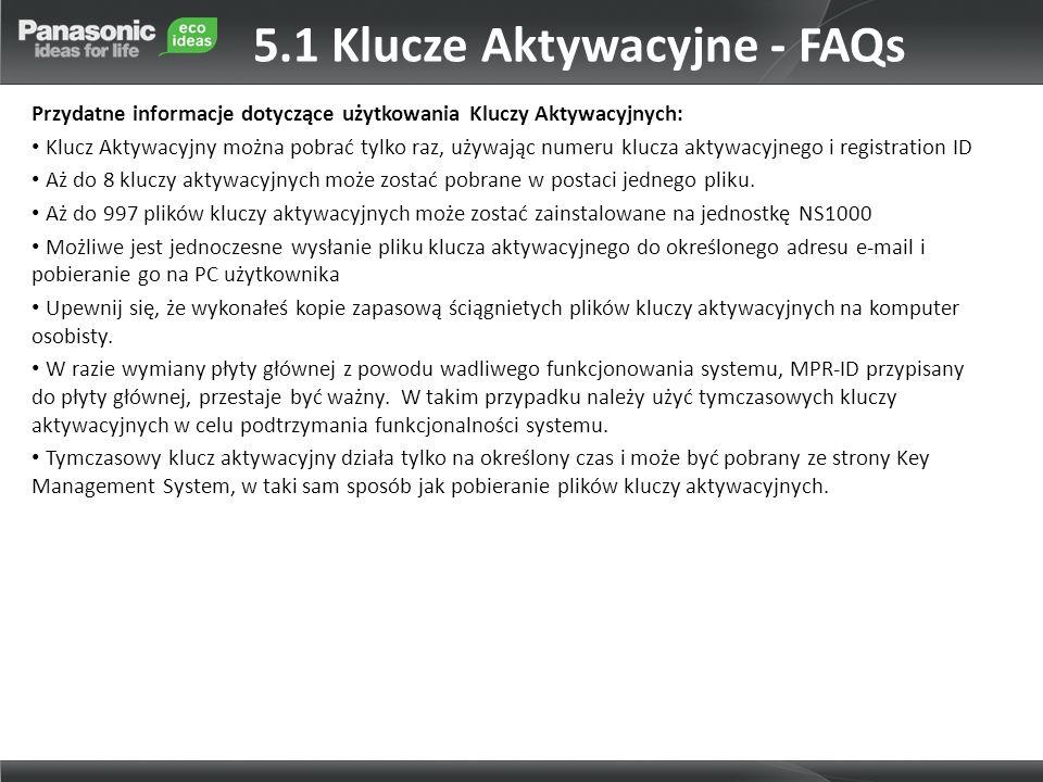 5.1 Klucze Aktywacyjne - FAQs