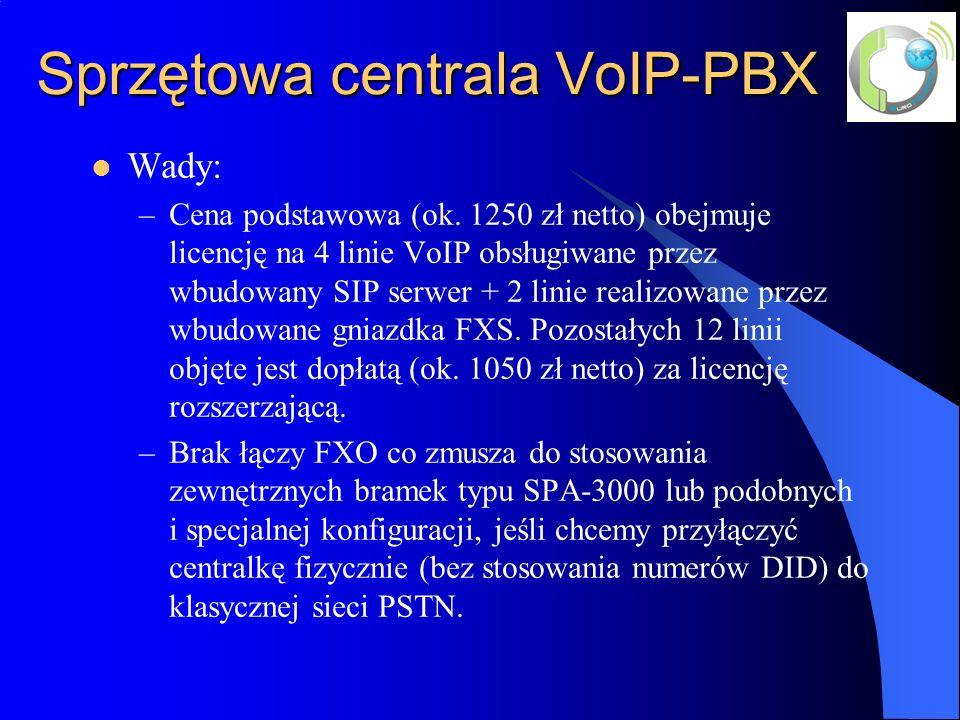 Sprzętowa centrala VoIP-PBX