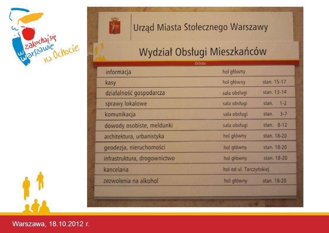 Warszawa, 18.10.2012 r. Warszawa, 17.10.2012 r.