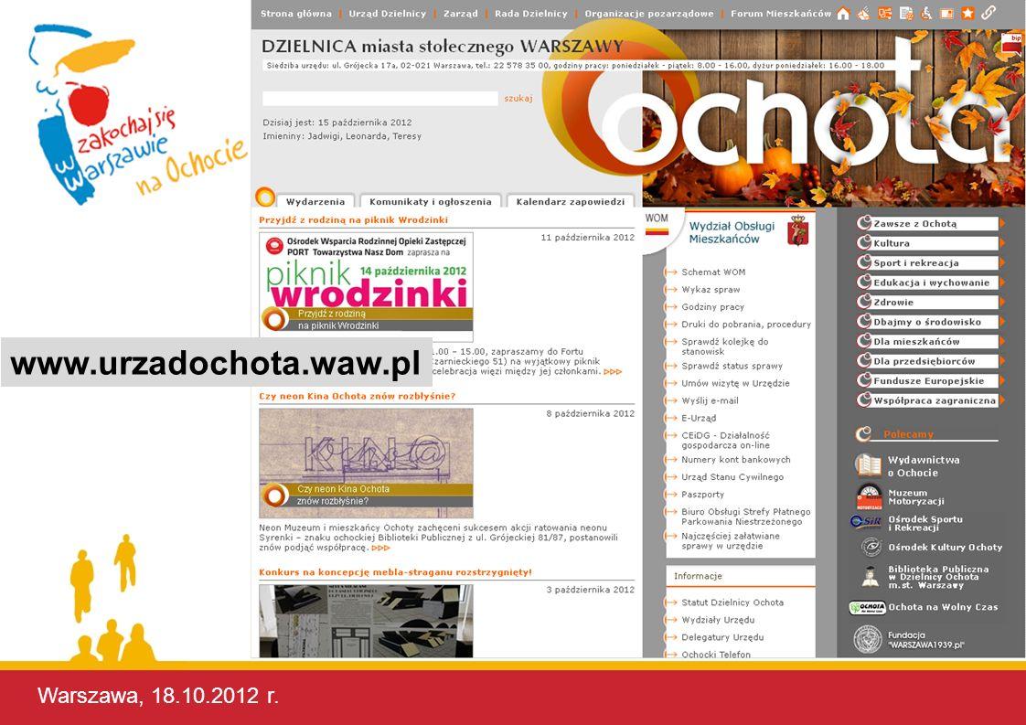 www.urzadochota.waw.pl Warszawa, 17.10.2012 r. Warszawa, 17.10.2012 r.