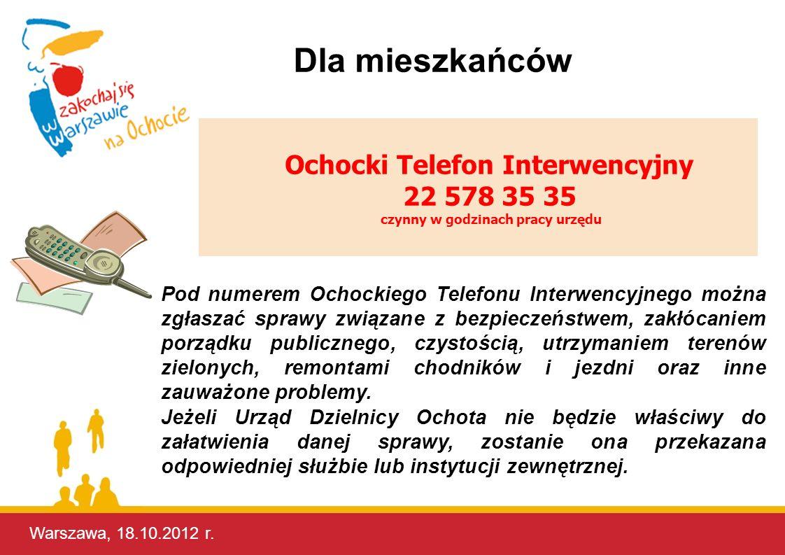 Ochocki Telefon Interwencyjny czynny w godzinach pracy urzędu