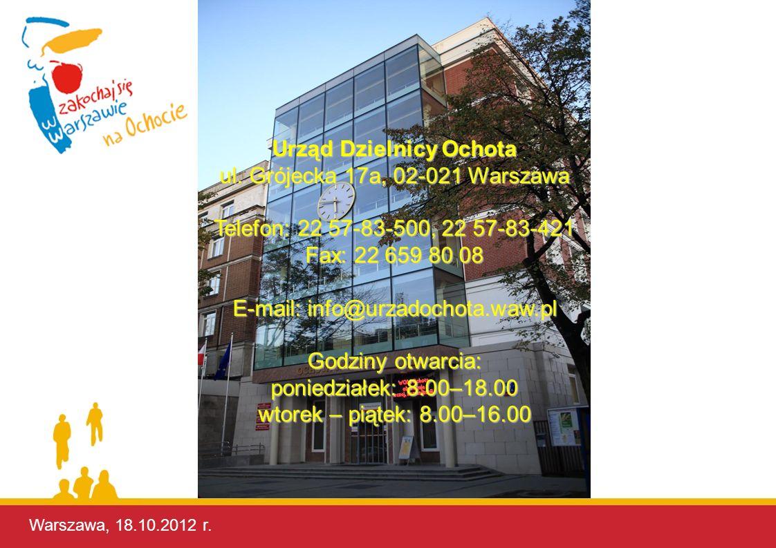 Urząd Dzielnicy Ochota ul. Grójecka 17a, 02-021 Warszawa