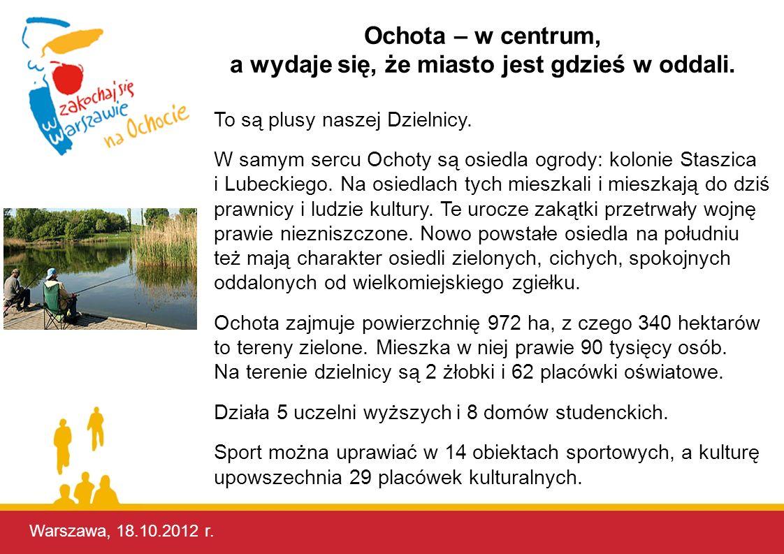 Ochota – w centrum, a wydaje się, że miasto jest gdzieś w oddali.