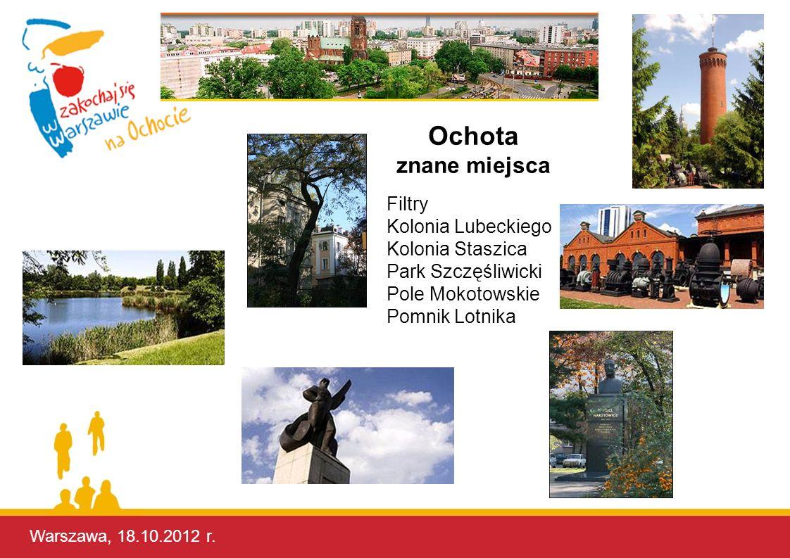 Ochota znane miejsca Filtry Kolonia Lubeckiego Kolonia Staszica