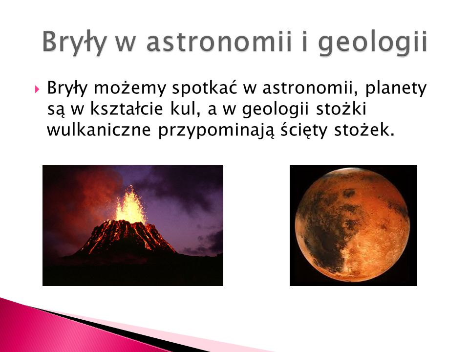 Bryły w astronomii i geologii