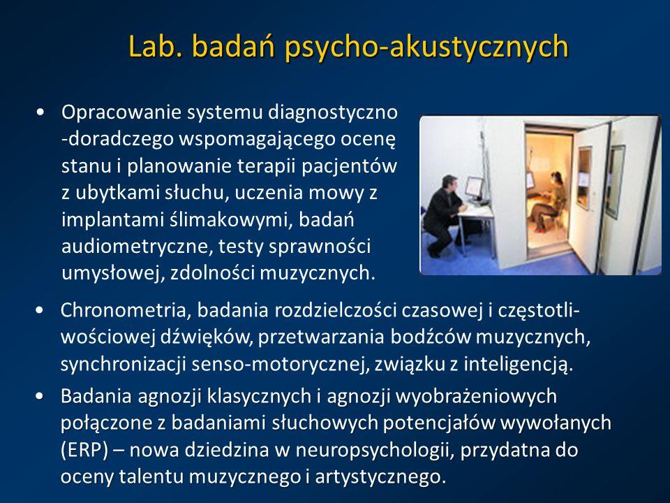 Lab. badań psycho-akustycznych