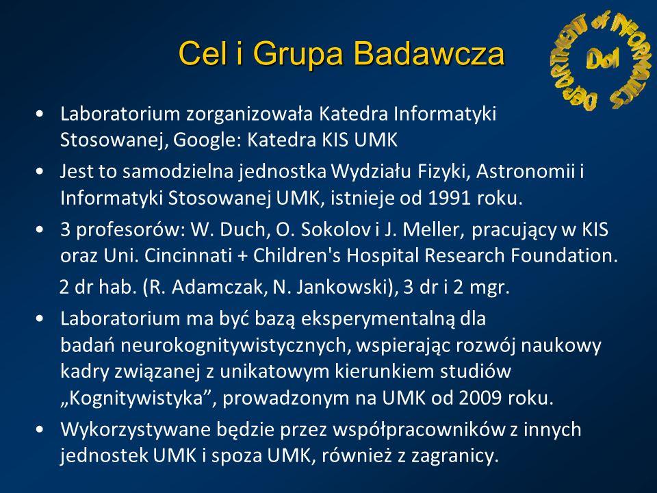 Cel i Grupa Badawcza Laboratorium zorganizowała Katedra Informatyki Stosowanej, Google: Katedra KIS UMK.