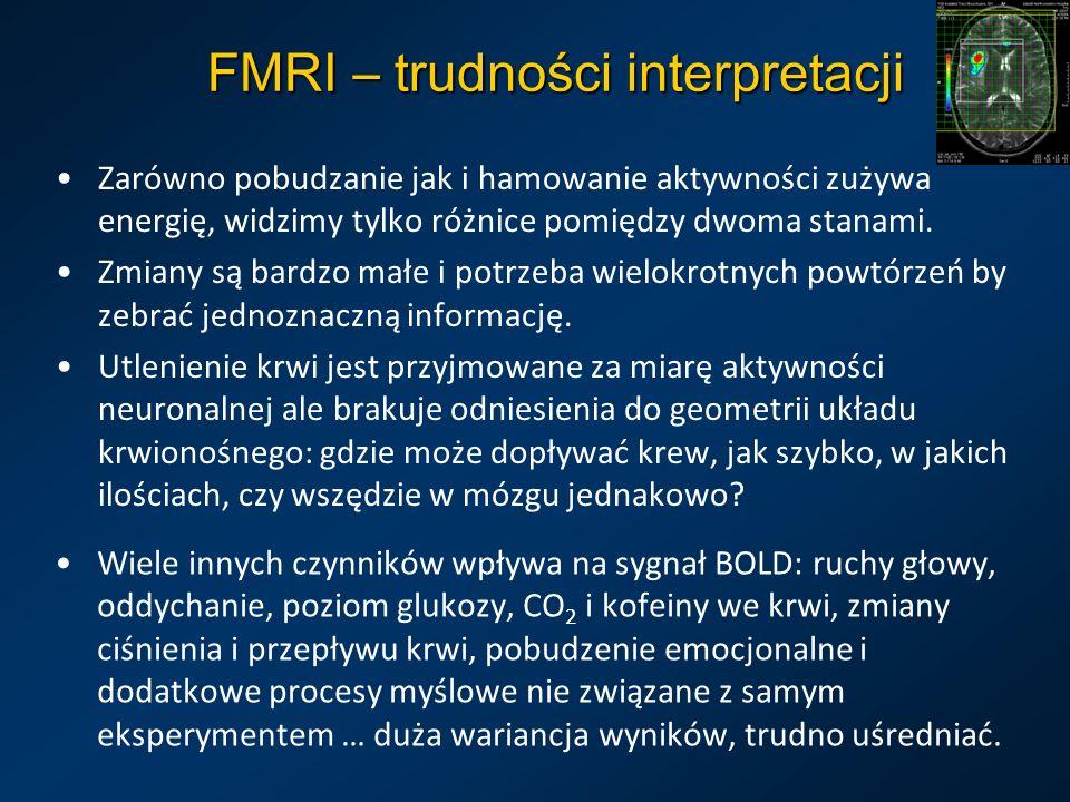 FMRI – trudności interpretacji