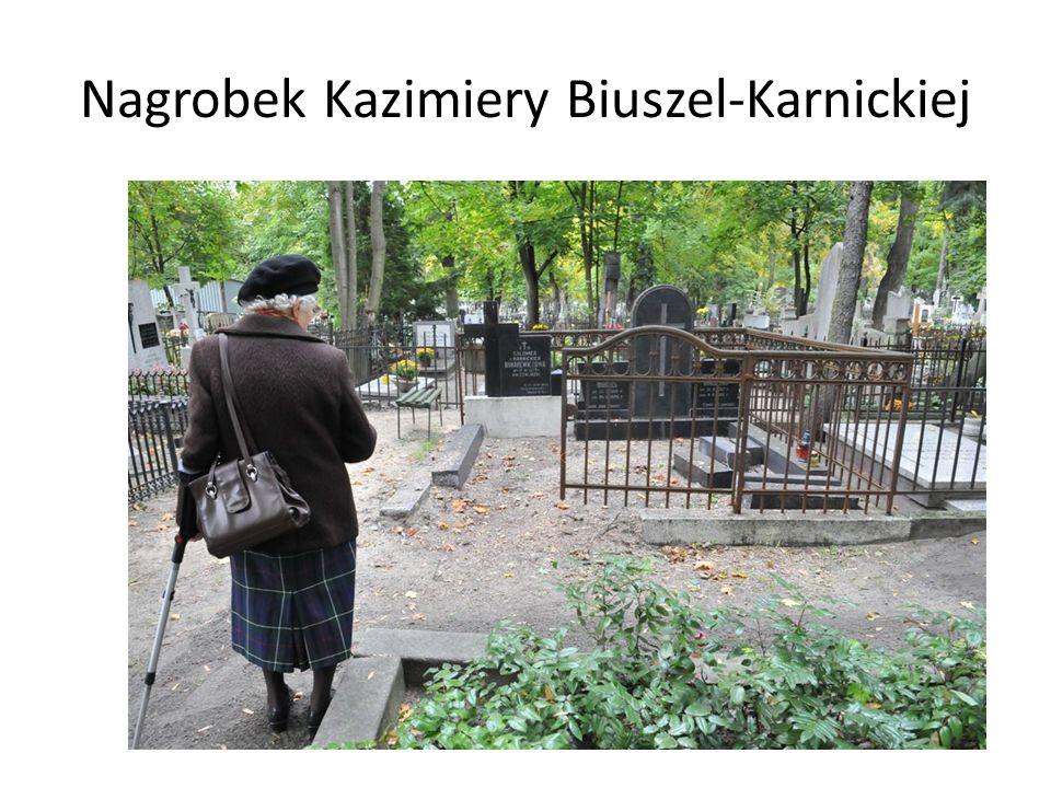 Nagrobek Kazimiery Biuszel-Karnickiej