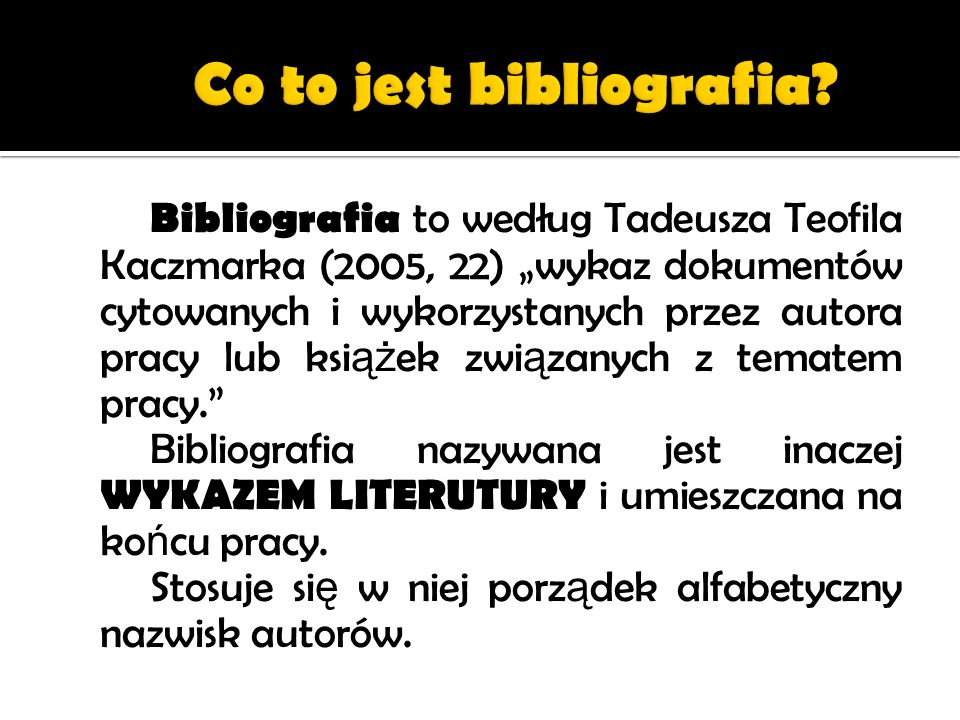 Co to jest bibliografia