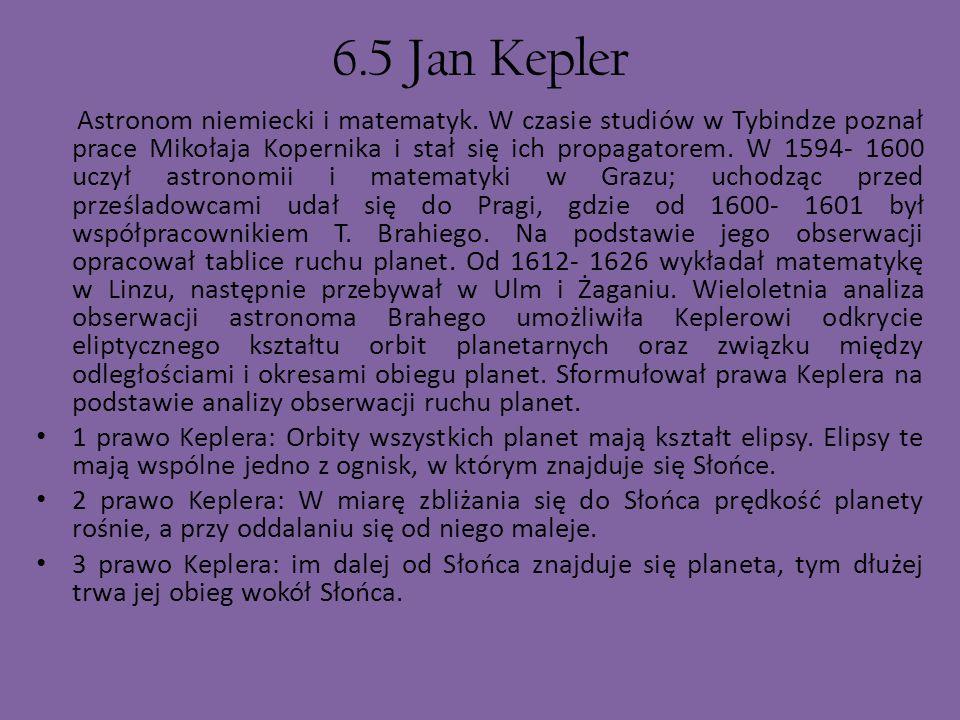 6.5 Jan Kepler