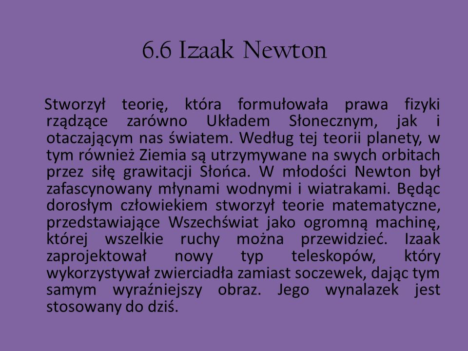 6.6 Izaak Newton