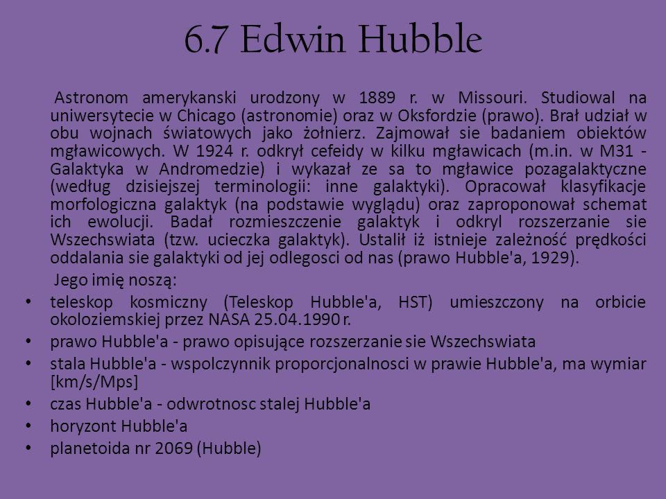 6.7 Edwin Hubble