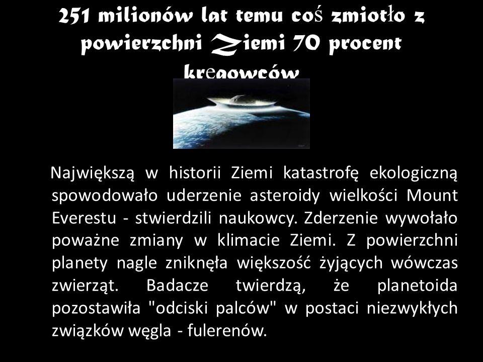 251 milionów lat temu coś zmiotło z powierzchni Ziemi 70 procent kręgowców