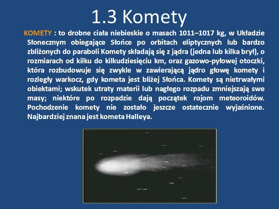 1.3 Komety