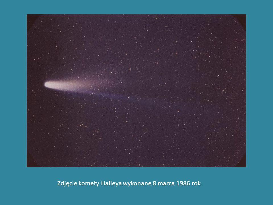 Zdjęcie komety Halleya wykonane 8 marca 1986 rok